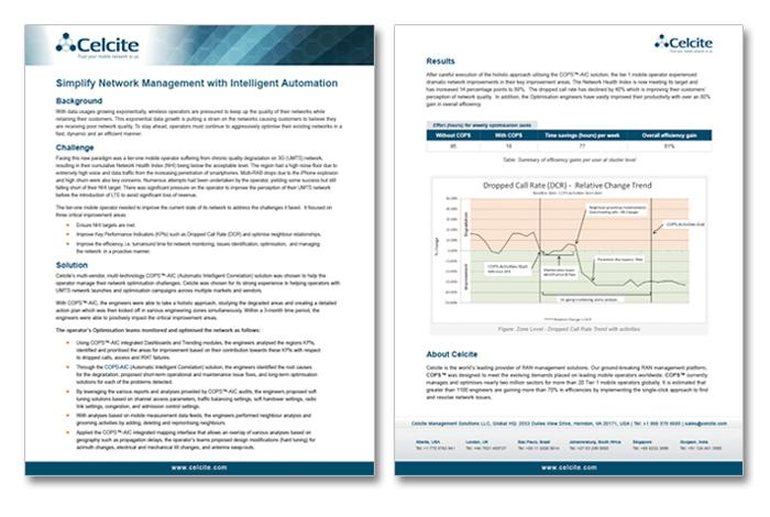 Professional case study document designed for an international mobile network firm.